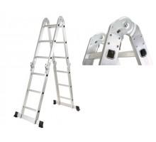 Лестница алюм. многофункц. 4х3 ступ. (стрем.-175см, лестн.-360см) шарнирное соединение