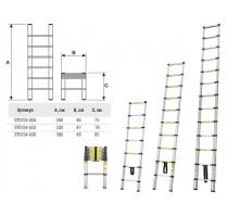 Лестница телескопическая 1-секц. алюм. 260см, 9 ступ.