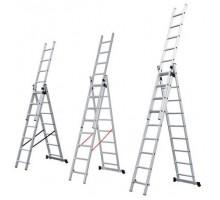 Лестница алюм. 3-х секц. 201/474/214см 3х8 ступ.