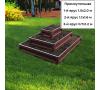 прямоугольная 3-х ярусная (шоколад) +44.00 руб.