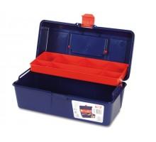 Ящик для инструмента пластмассовый 31x16x13см (с лотком) (TAYG)