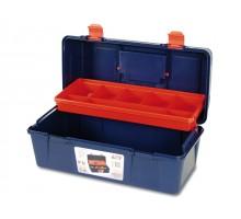 Ящик для инструмента пластмассовый 40x20,6x18,8см (с лотком) (TAYG)