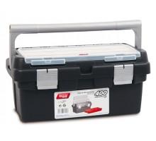 Ящик для инструмента пластмассовый 40x22,5x19см (с лотком) (TAYG)