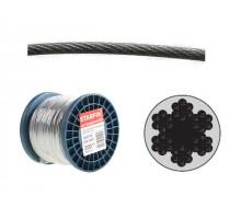 Трос стальной в ПВХ М8(6) DIN 3055 (бухта 100 м)