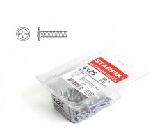 Винт М4х35 мм для мебельной фурнитуры, цинк, кл.пр. 5.8, DIN 967 (80 шт в пласт. конт.)