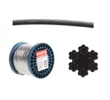 Трос стальной, оцинк. М1.5 DIN 3055 (бухта 200 м)