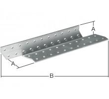 Держатель балки левый 40x290 мм DB L белый цинк