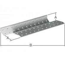 Держатель балки левый 40x350 мм DB L белый цинк