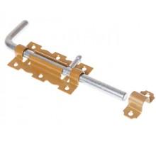 Задвижка дверная 110 мм Г-обр, зол.металлик