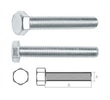 Болт М10х120 мм шестигр., цинк, кл.пр. 5.8, DIN 933 (5 кг.)