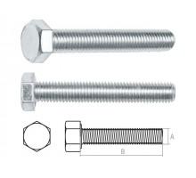 Болт М10х20 мм шестигр., цинк, кл.пр. 5.8, DIN 933 (5 кг.)