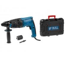 Перфоратор BULL BH 2601 в чем. (800 Вт, 2.9 Дж, 4 реж., патрон SDS-plus, БЗП в комплекте, вес 3.3 кг)