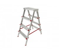 Лестница-стремянка алюм. двухсторонняя 88 см 4 ступ.
