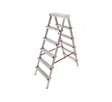 Лестница-стремянка алюм. двухсторонняя 132 см 6 ступ.